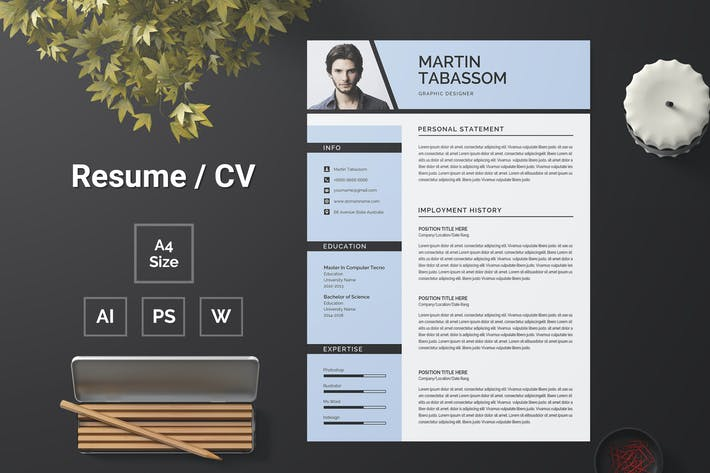 Thumbnail for Resume Template 106