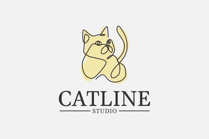 Thumbnail for Catline Logo Template - Cat