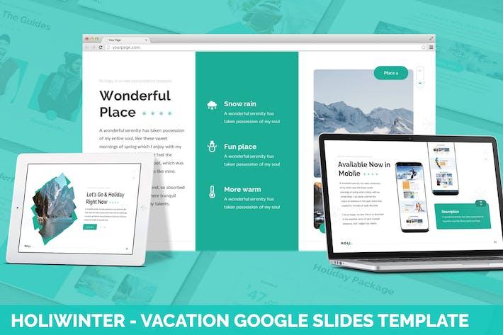 Thumbnail for Holi Winter - Vacation Google Slides Template