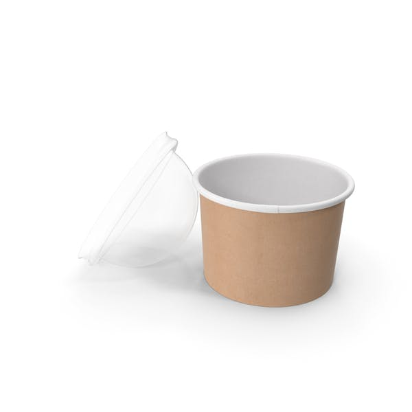 Thumbnail for Paper Food Cup with Clear Lid for Dessert 8 Oz 200 ml Open
