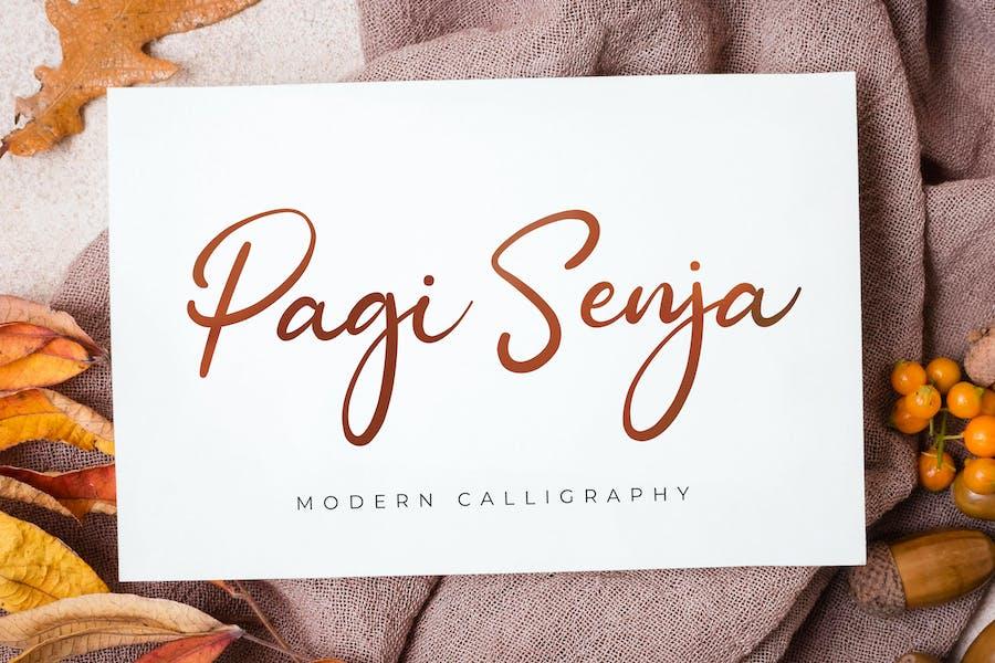 Pagi Senja - Calligraphy Font