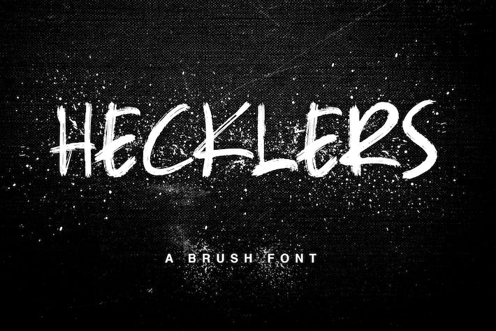 Thumbnail for Hecklers Handbrush Font