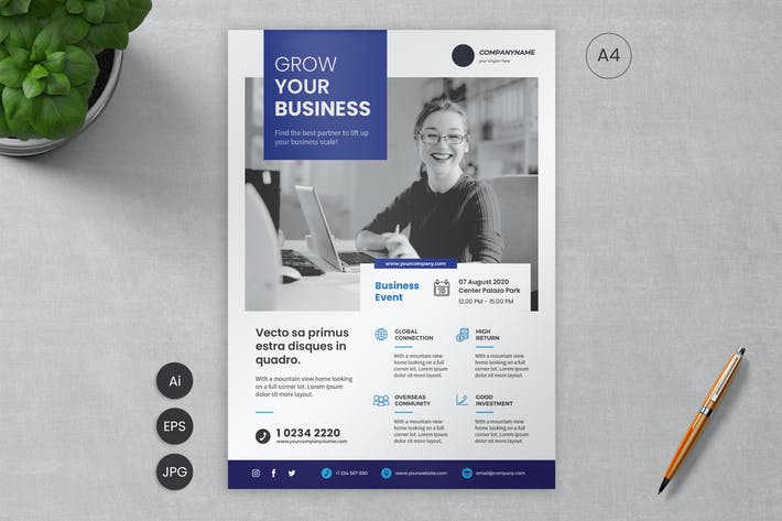 Thumbnail for Business Event Flyer Template 14 - Slidewerk