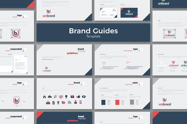 Plantilla de Directrices de marca de Google Diapositivas