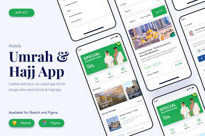 Thumbnail for Umrah Hajj App Mobile Kit