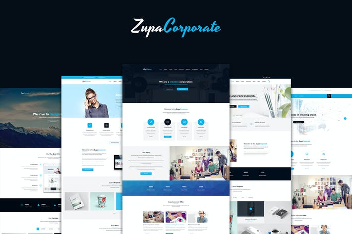 Thumbnail for ZupaCorporate – Business and Corporate PSD