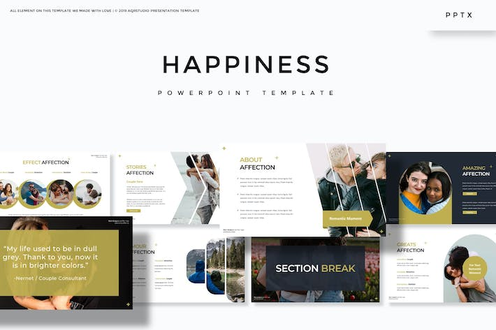 Thumbnail for Happines - Powerpoint Template