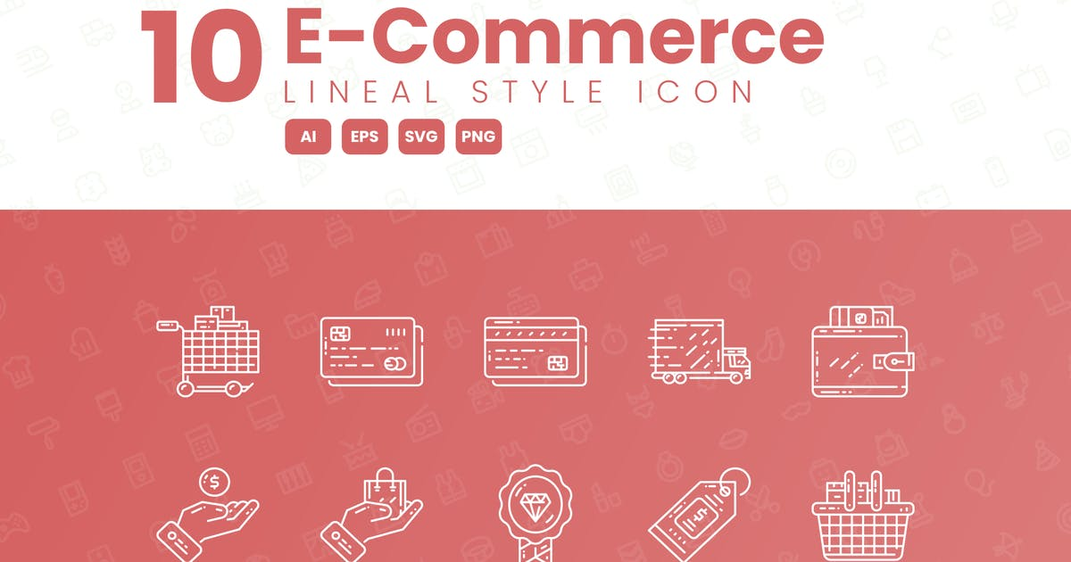 Download 10 E-Commerce Detailed Icon Collection by studiotopia