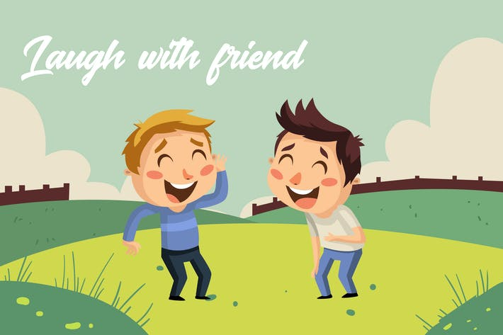 Thumbnail for Laugh friend - Illustration