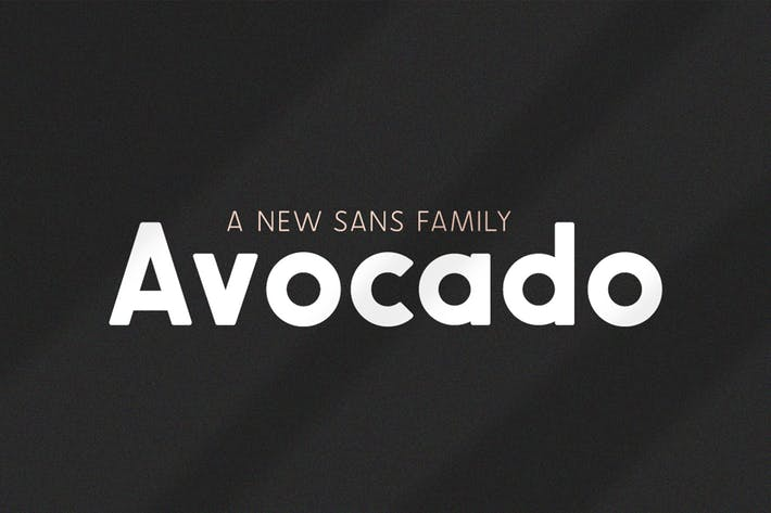 Thumbnail for Avocado Sans Familia tipográfica