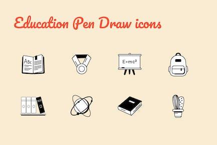 Education Pen Draw icons