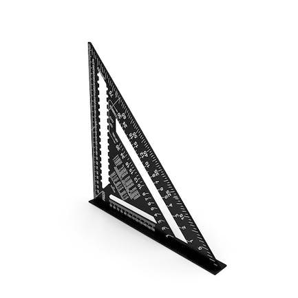 Triangle Square Ruler Black