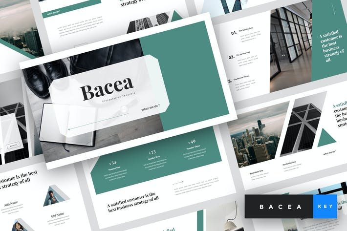 Thumbnail for Bacea - Business Keynote Template