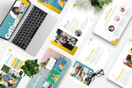 Cuttuo - Pets Care & Animal Googleslide Templates
