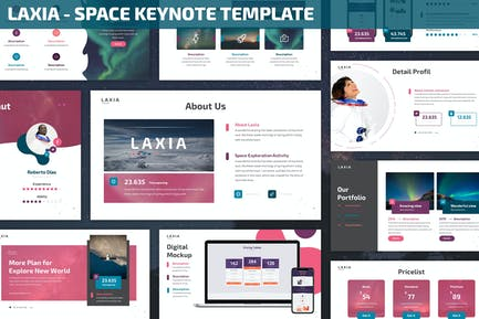 Laxia - Plantilla de Keynote espacio