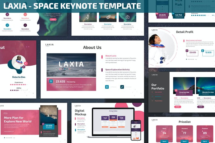 Cover Image For Laxia - Space Keynote Template