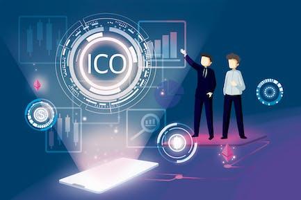 ICO Concept Blockchain Illustration - Nh