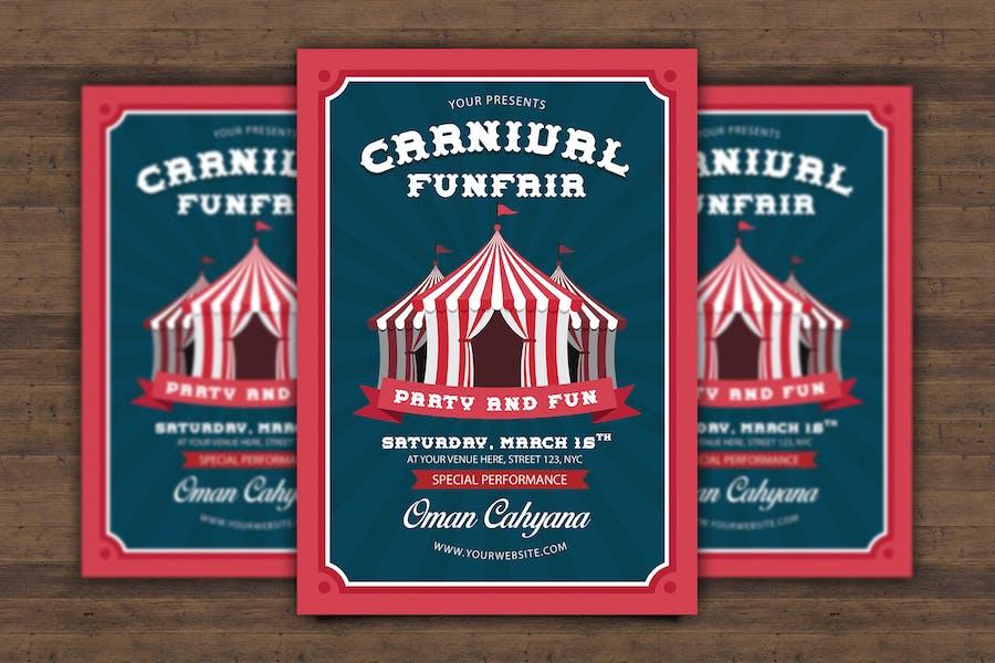 Carnival Funfair Flyer