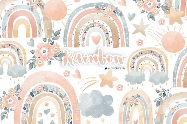 Rainbow baby girl design