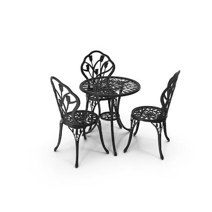 Eisen-Esstisch und Stühle Set
