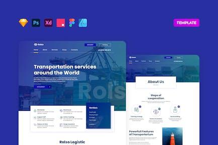 Logistic Company Website Template