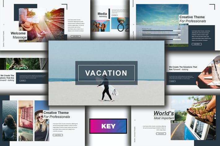 Thumbnail for Vacation Lookbook Keynote Template