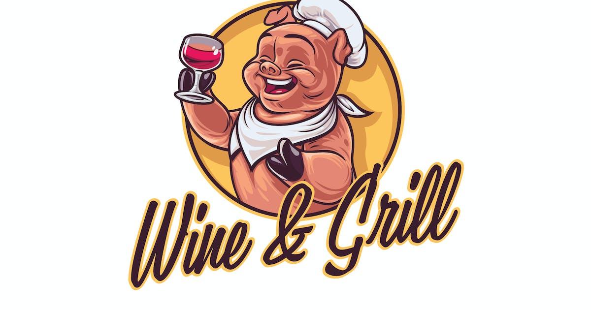 Download Cartoon Chef Pig Character Mascot Logo by Suhandi