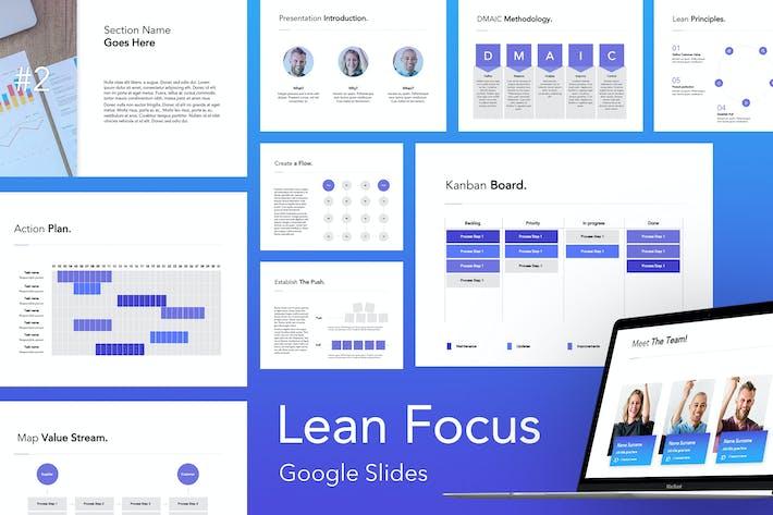 Thumbnail for Lean Focus Google Slides Template