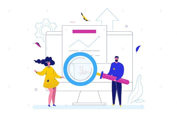 Thumbnail for Partnership - flat design style illustration