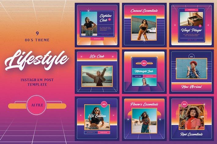 80s Theme - Lifestyle Instagram Post