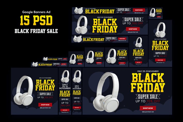 Thumbnail for Black Friday Banners Ad