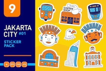 Jakarta City #01 Sticker Pack