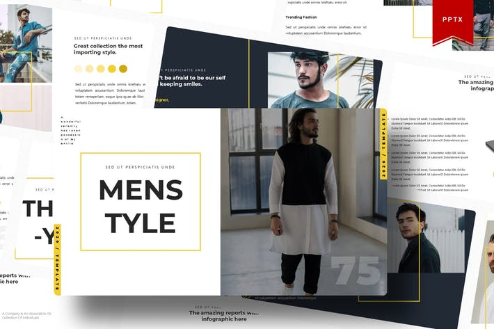 Thumbnail for Men Style | Powerpoint Template