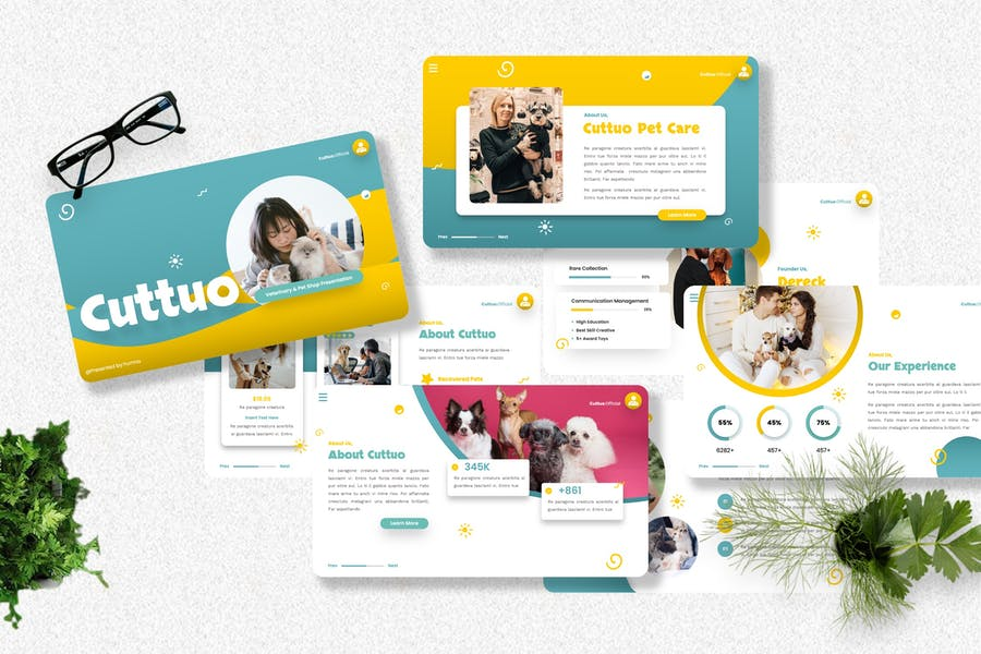 Cuttuo - Pets Care & Animal Powerpoint Templates