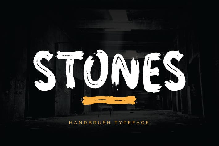 Thumbnail for Stones - Brush Font