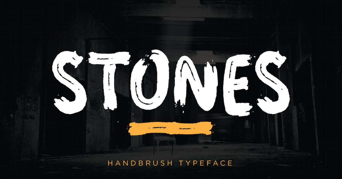Download Stones - Brush Font by GranzCreative