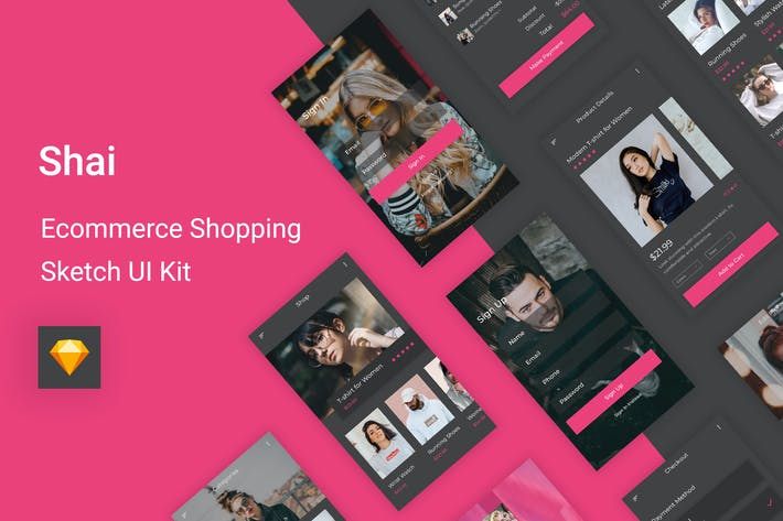 Cover Image For Shai - Ecommerce Shopping UI Kit for Sketch
