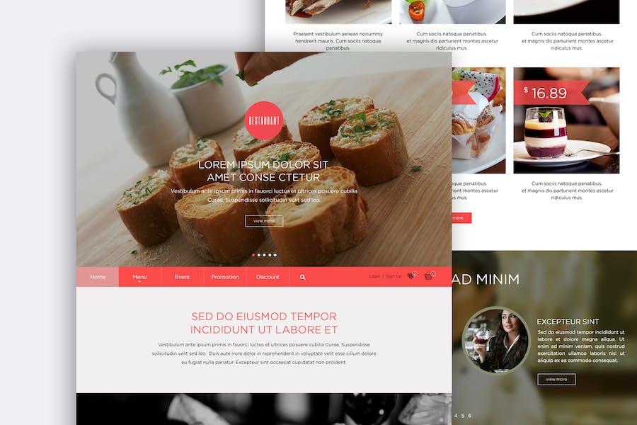 Food Landing Page Design Concept