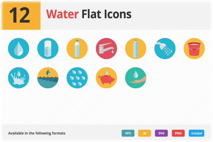 Thumbnail for Water Flat Icons Vol 1