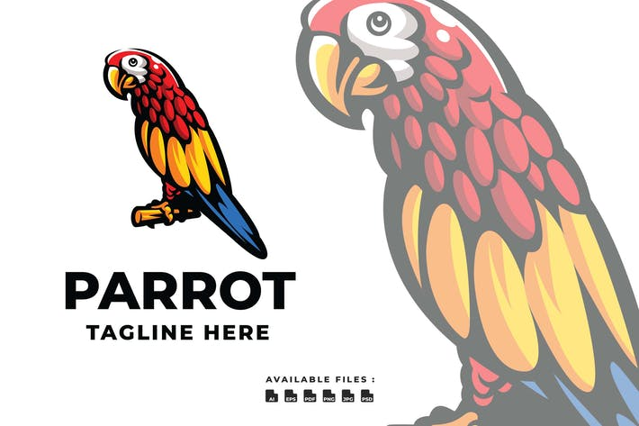 Thumbnail for Parrot Elegant Logo