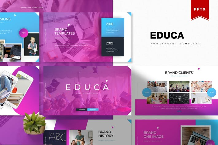 Thumbnail for Educa | Modèle Powerpoint