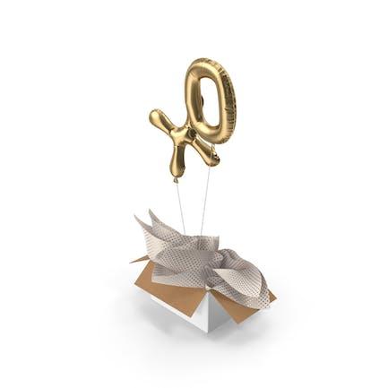 Gold XO Balloons Surprise Box