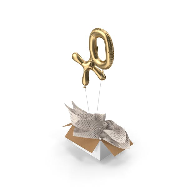 Cover Image for Gold XO Balloons Surprise Box