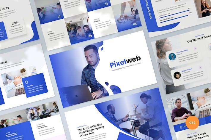 Thumbnail for Web Design Agency Slides Presentation Template