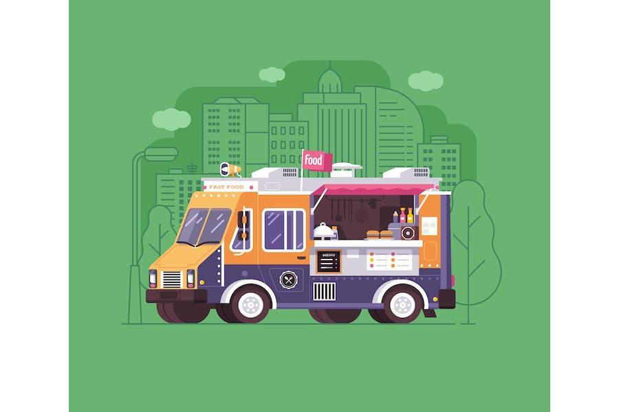 Street Food and Barbecue Van