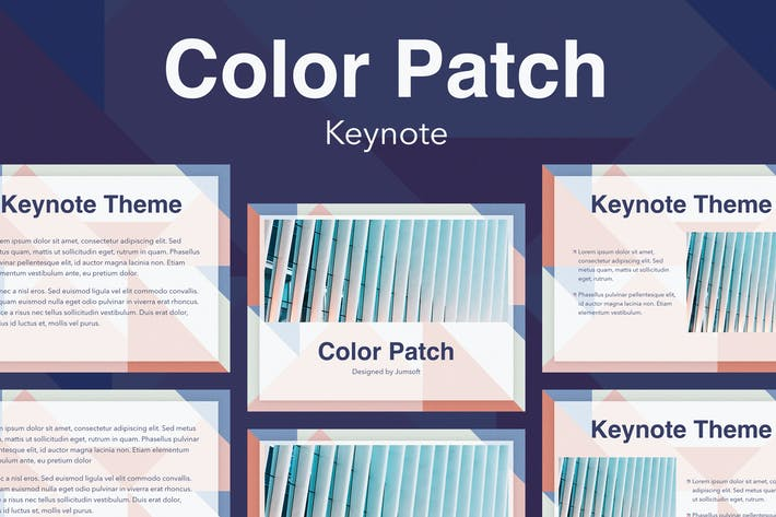 Thumbnail for Color Patch Keynote Template