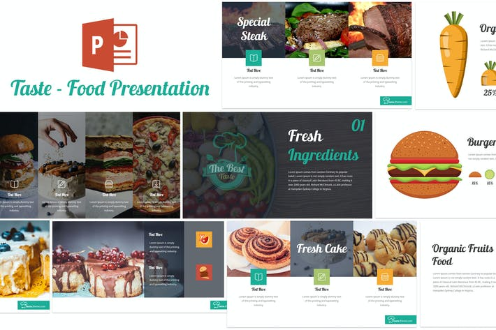 Thumbnail for Вкус - Food Powerpoint Шаблон