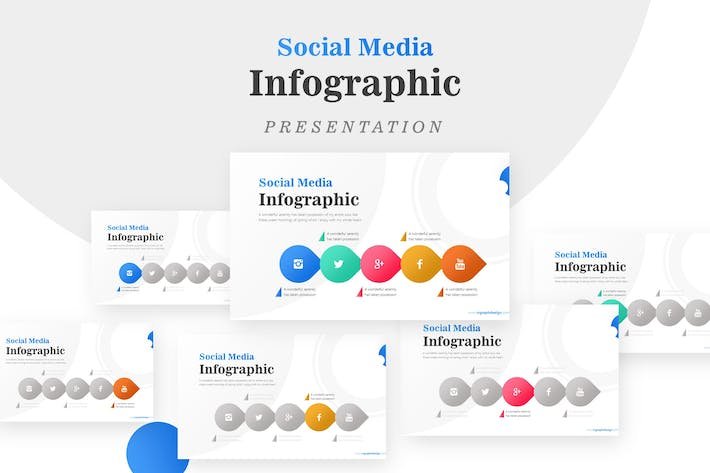 Thumbnail for Business Diagram Circle Arrow Infographic Template