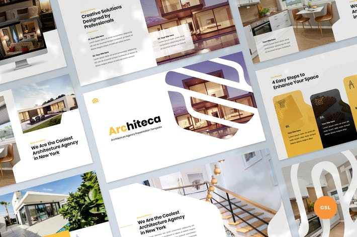 Thumbnail for Architecture Agency & Design Slides Template