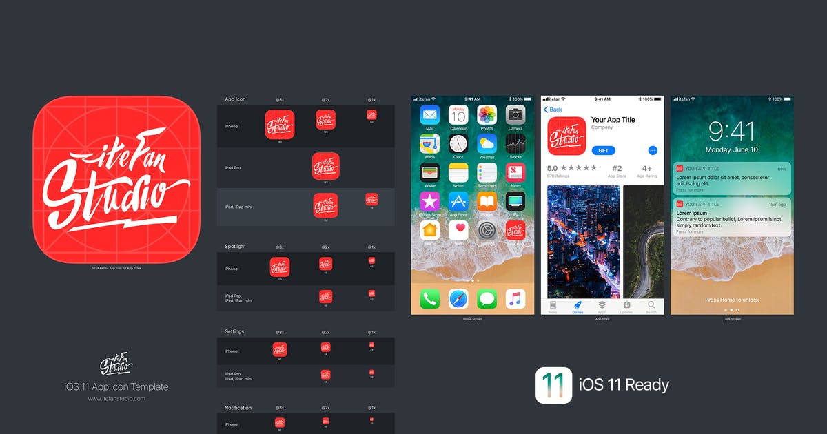Download iOS 11 App Icon Template by itefan